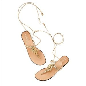 Lilly Pulitzer Gold Pier Strappy Gladiator Sandal
